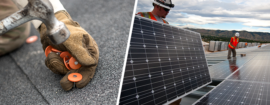 What solar and roofing companies do
